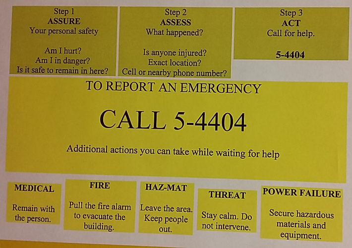 PSU emergency procedures